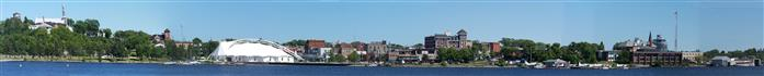 Panoramic Photo of Kenora Harbour Front 2012